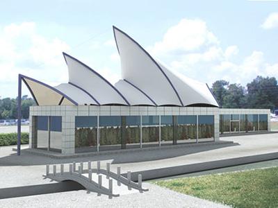景观绿化膜结构,景观长廊膜结构,景观改造膜结构
