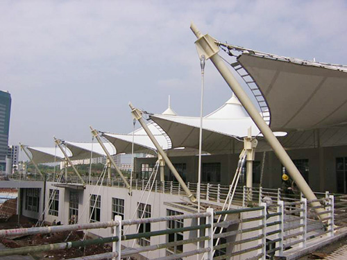 水族馆膜结构,休息茶庄膜结构,海滨娱乐休闲建筑膜结构