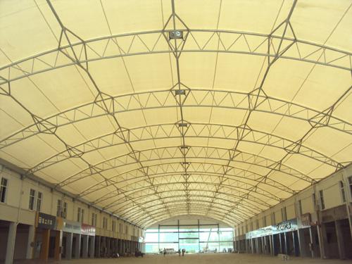 小区花园张拉膜,屋顶花园膜结构,屋顶遮阳膜结构