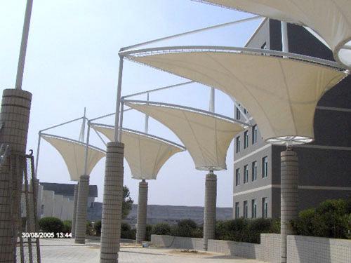 建筑出入口膜结构,标志性小品膜结构,音乐广场膜结构