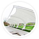 采用进口膜材设计制作的景观长廊膜结构,景观改造膜结构使得膜结构和钢结构工程成为现代化的永久建筑,美观而且耐用。